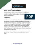 BASIC OSPF Configuration Guide