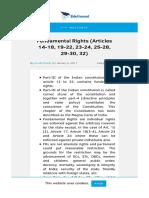 Fundamental Rights (Articles 14-18_ 19-22_ 23-24_ 25-28_ 29-30_ 32)
