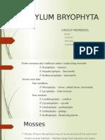 Phylum Bryophyta New