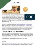 Paper Money vs. Gold Money