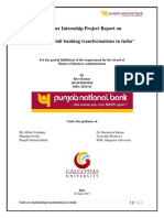 project report on retail banking in pnb