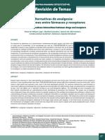 Alternativas de analgesia Interacci ones entre fármacos y receptores