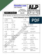 Inverse Trigonometric Functions (ITF) JEE Main and Advanced (IIT-JEE)