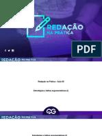Estrategias e Falhas Argumentativas I e a Tecnologia Na Escolarizacao Do Brasil Contemporaneo