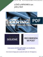 Como Pasar de DVD a MP4-MKV Con Handbrake Rápido y Fácil