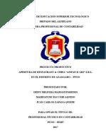 Proyecto FINAL Chifa Aswan Kari APA ISTA Agosto 11