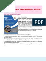1. Units, Measurements & Motion