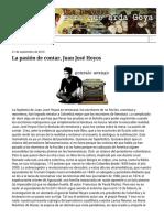 Una Hoguera Para Que Arda Goya_ La Pasión de Contar, Juan José Hoyos