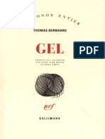 Bernhard, Thomas - Gel (2016, Gallimard)