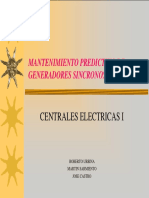 Mantenimiento Preventivo Generadores Sincronos