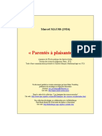 Marcel Mauss - Parentés à Plaisanteries