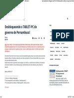 Desbloqueando o TABLET-PC Do Governo de Pernambuco! - Blog Qi Informática