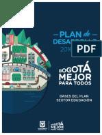 Bases Del Plan de Desarrolo Sector Educacion 2016 2020