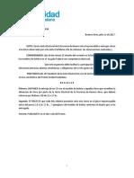 Resolucion de Presidencia Modelo de Boleta