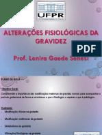Alterações Fisiológicas Da Gravidez - Professora Lenira