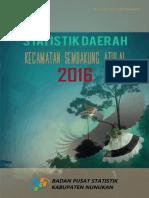 Statistik Daerah Kecamatan Sembakung Atulai 2016