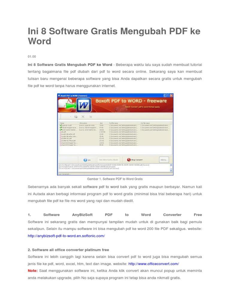 Program Mengubah File Pdf Ke Word