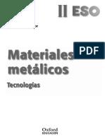 Materiales Metálicos. Tecnologías. Libro Del Profesor