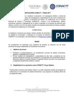 Convocatoria CONACYT-FONCA 2017ok