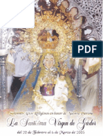 Folleto de la Virgen de Gador 2005