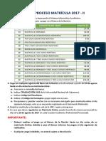 Guía de Matrícula 2017 - II Actualizada UNC
