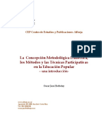 Jara - Metodologia Metodos y Tecnicas EP- 2009
