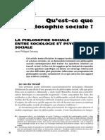 Qu'Est-ce Que La Philosophie Sociale