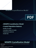 MSMPR Crystallization Model