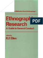 Roy F. Ellen Ethnographic Research- A Guide to General Conduct Research Methods