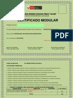 Certificado MODULAR