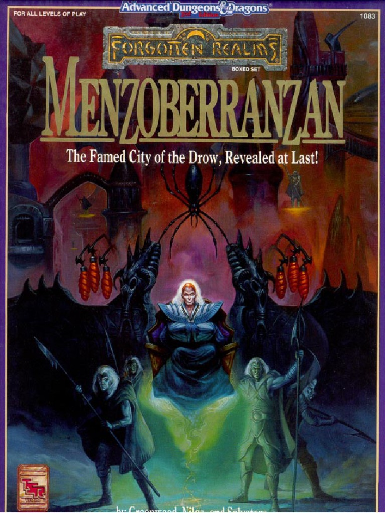 AD&D Menzoberranzan Boxed Set pdf