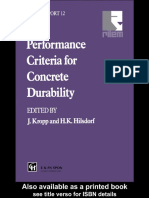 Hilsdorf, Hubert K.; Kropp, Jörg Performance Criteria for Concrete Durability State-Of-The-Art Report