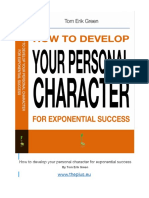 How to Develop Personality Characterics 1911