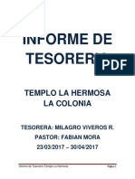 Informe de Tesoreria- ABRIL2017