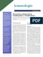 Alteraciones Plaquetarias-%0D%0Atrombopenias y Trombocitosis