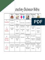 brusly elementary behavior matrix 1718