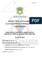 ASSIGNMENT + PRESENTATION - project risk mgmt