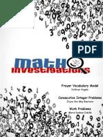 Math Investigations