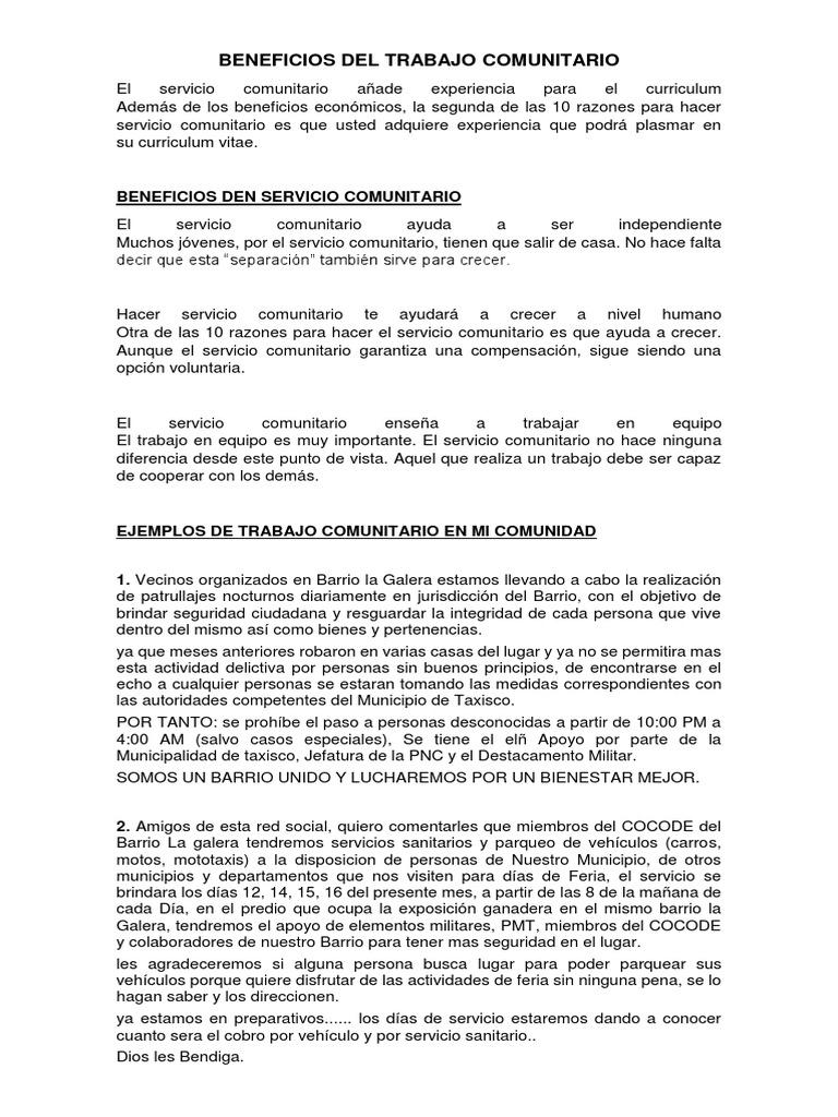 Atractivo Currículum De Experiencia Voluntaria Colección - Colección ...