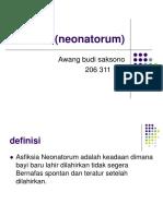 Asfiksia (Neonatorum) Awang