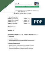 Informe de Desvalanceo