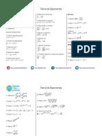 Teoría de Exponentes Ejercicios Propuestos PDF