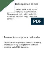 Pneumotorks Spontan Primer