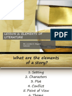 LESSON 2 Elements of Literature