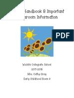 Parent Information Booklet 2017-2018