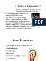 Why Electrical Engineering is selected