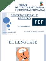 Materia de Lenguaje Oral y Escrito 1