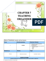 Chapter 7 Teaching Organiser