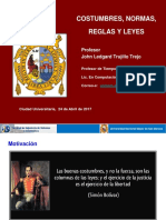 03. Costumbres, Normas, Reglas y Leyes- Etica de La Profesión 2017-I