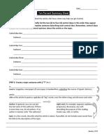 10 summary focus sheet start